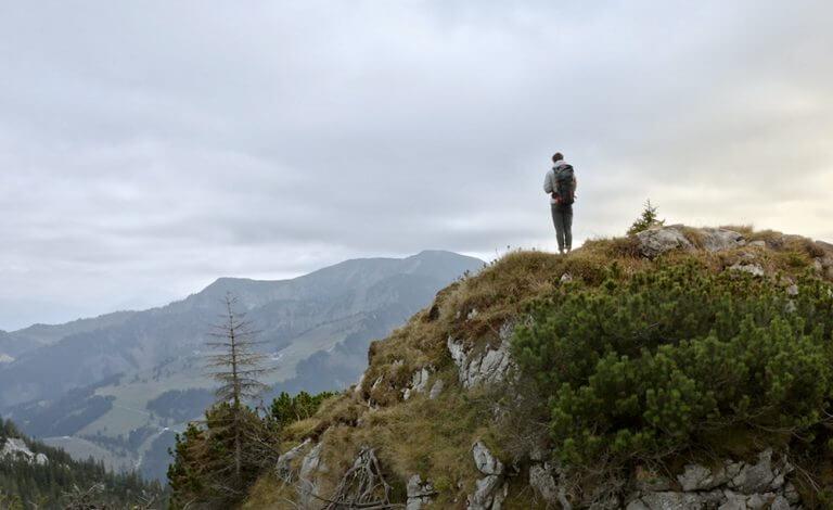 Berge Gipfel Freiheit Wanderer