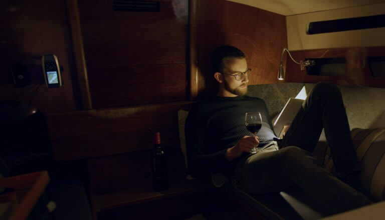 Segelboot Wein Lesen Ruhe